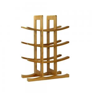 Natural Bamboo 3 Tier Wine Rack 12 Bottles Perfect for Vino Bars Cellars Countertop and Apartment Furniture, Urban living