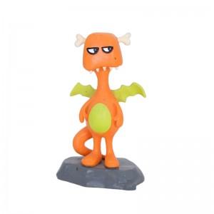 Creative fire dinosaur; resin cartoon animal decoration crafts; custom home decoration creative gifts