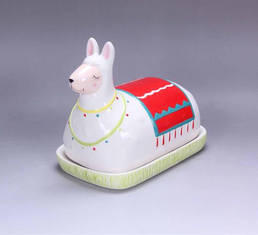 Ceramic llama soap dishes ,alpaca dishes