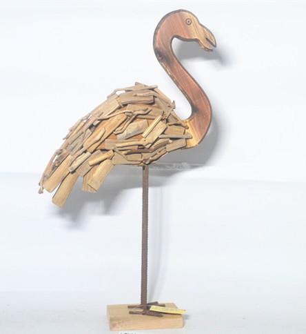 Nautical wooden aquatic bird ,driftwood animal aquatic bird   decorations
