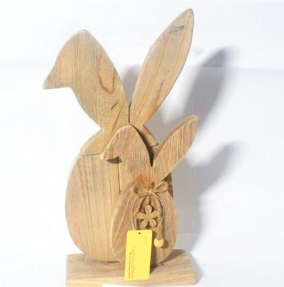 Wooden standing bunny decorations,rabbit wooden craft