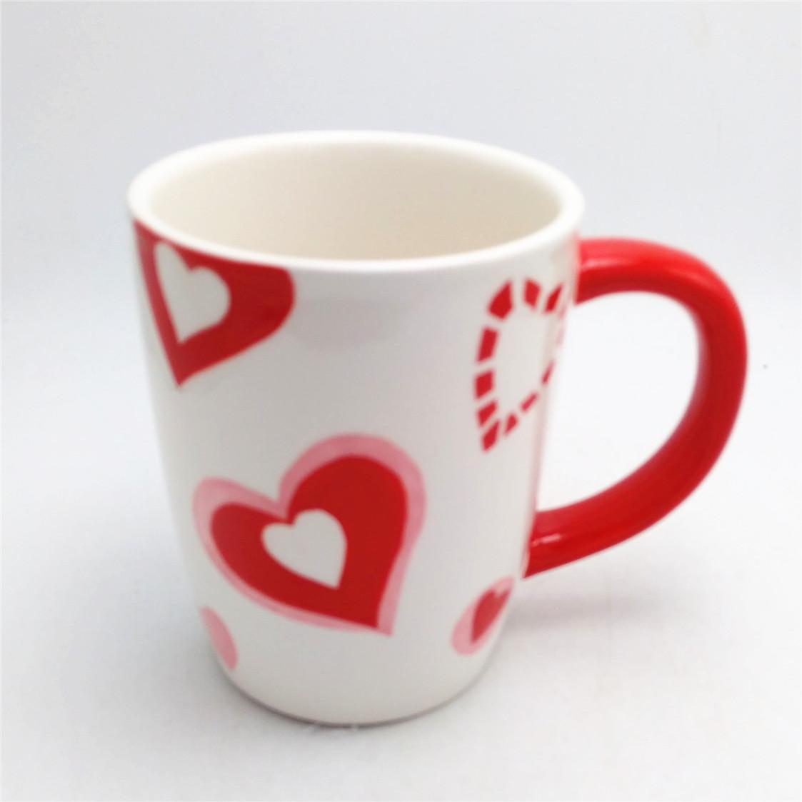 Customized ceramic pretty coffee mug  12 oz Valentine's coffee mugs