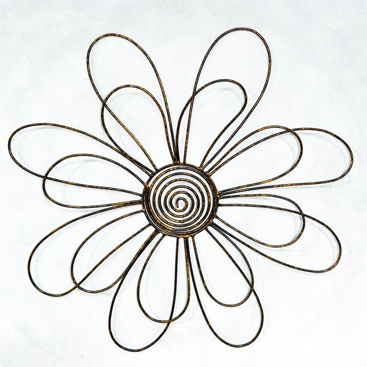Antique 3D Metal  flower Wall Art hanging Decor low price