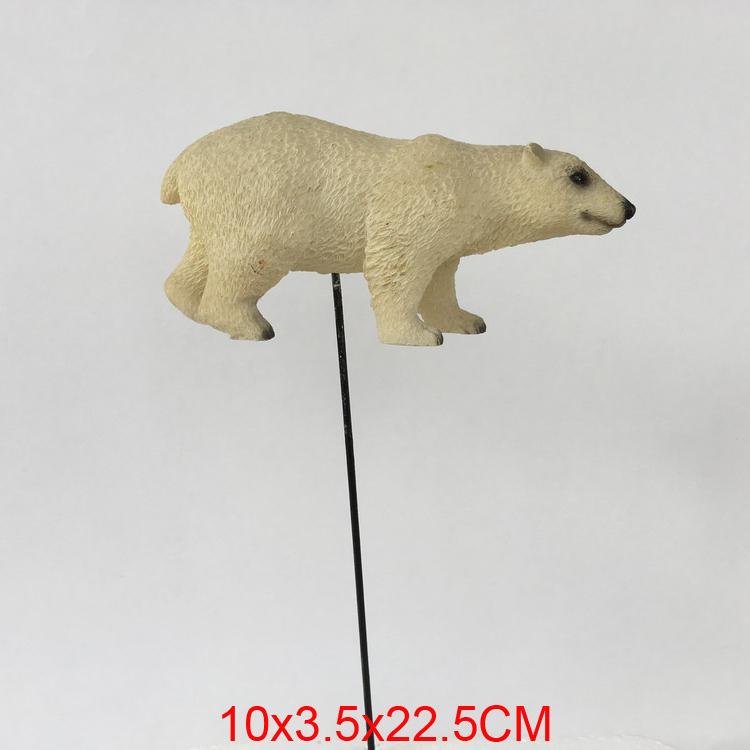 Polar Bear wildlife country Polyresin resin garden decor art w/ detachable stake