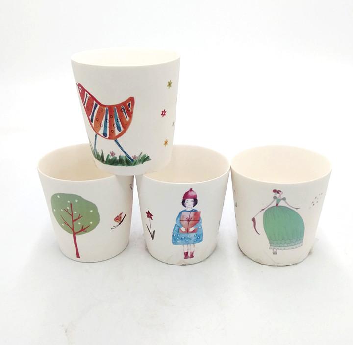 Ceramic hand painting bird tea cup