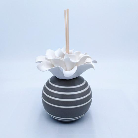Ceramic incense diffusers,ceramic flower head vases for incense