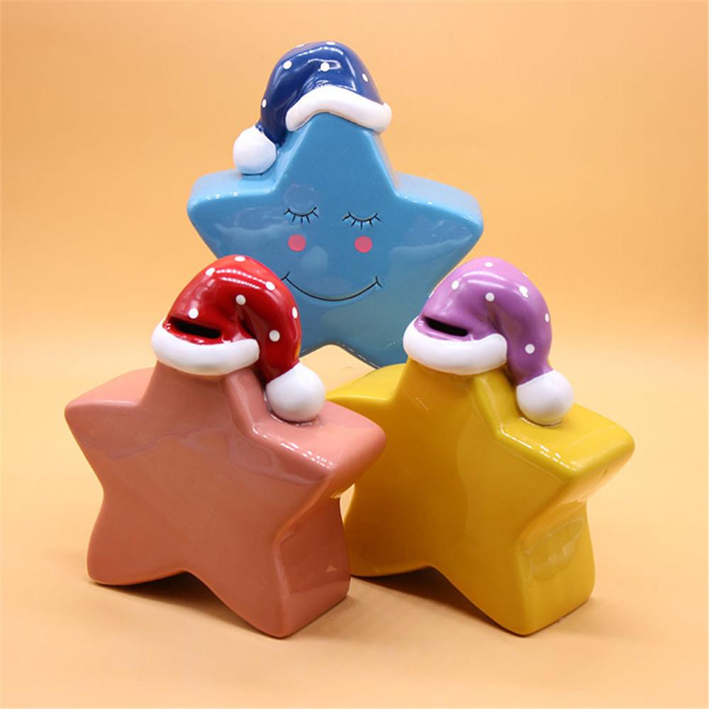 Ceramic Kids Star Shape piggy  coin bank / piggy bank / money box