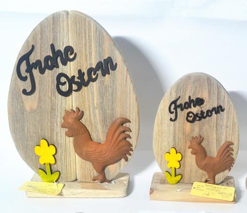 Wooden easter egg shape board ,egg design easter welcome board