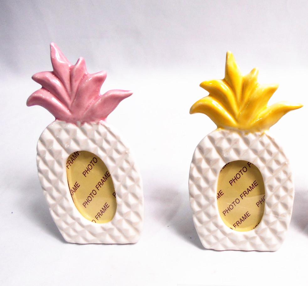 Polyresin summer fruit pine apple picture frames , pine apple photo frames