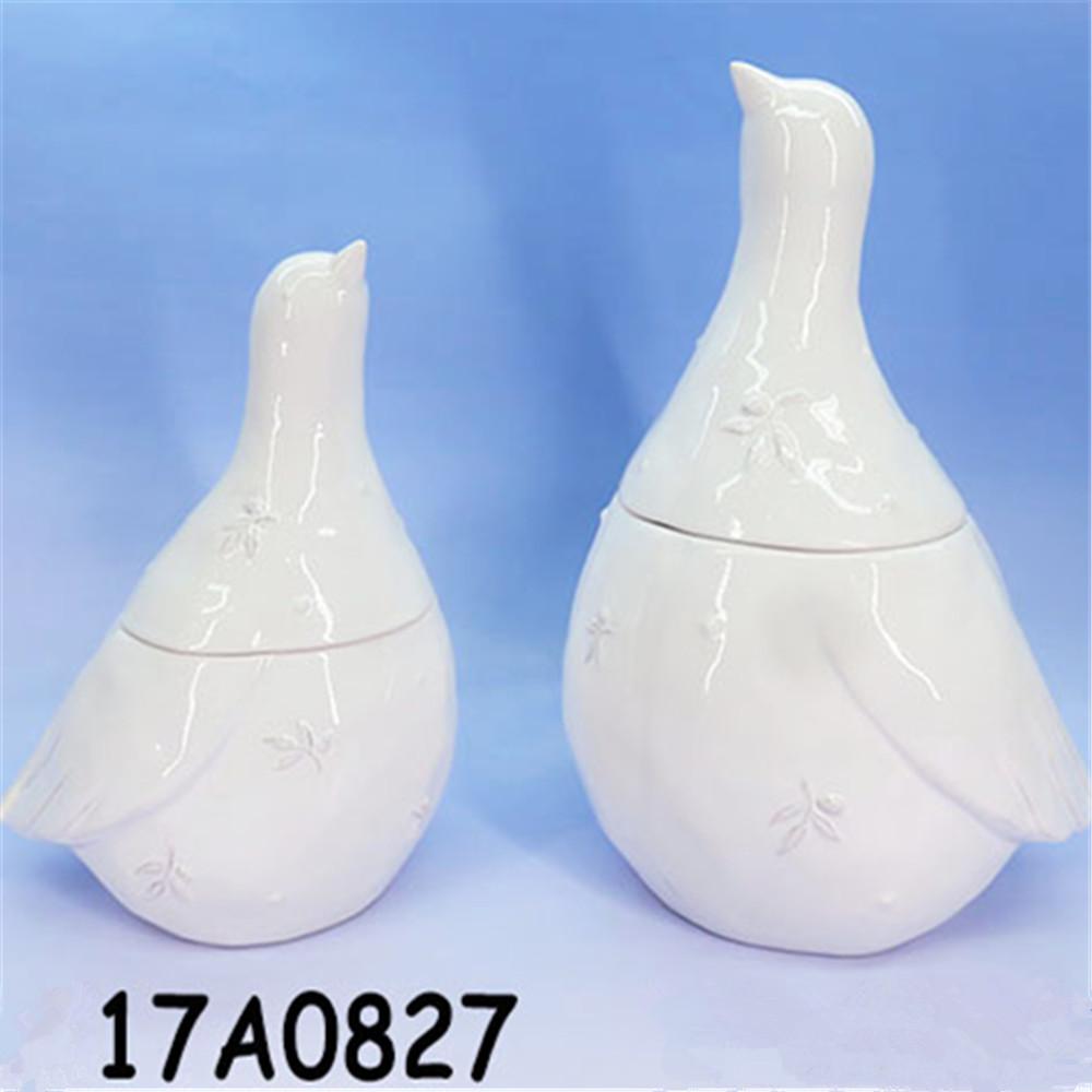 Bird shape cookie jar , ceramic decorative Storage Jar Candy Jar Cookie Jar With Lid,