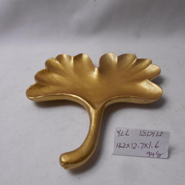 New Arrival OEM Golden Leaf Design Ceramic Plate/dish