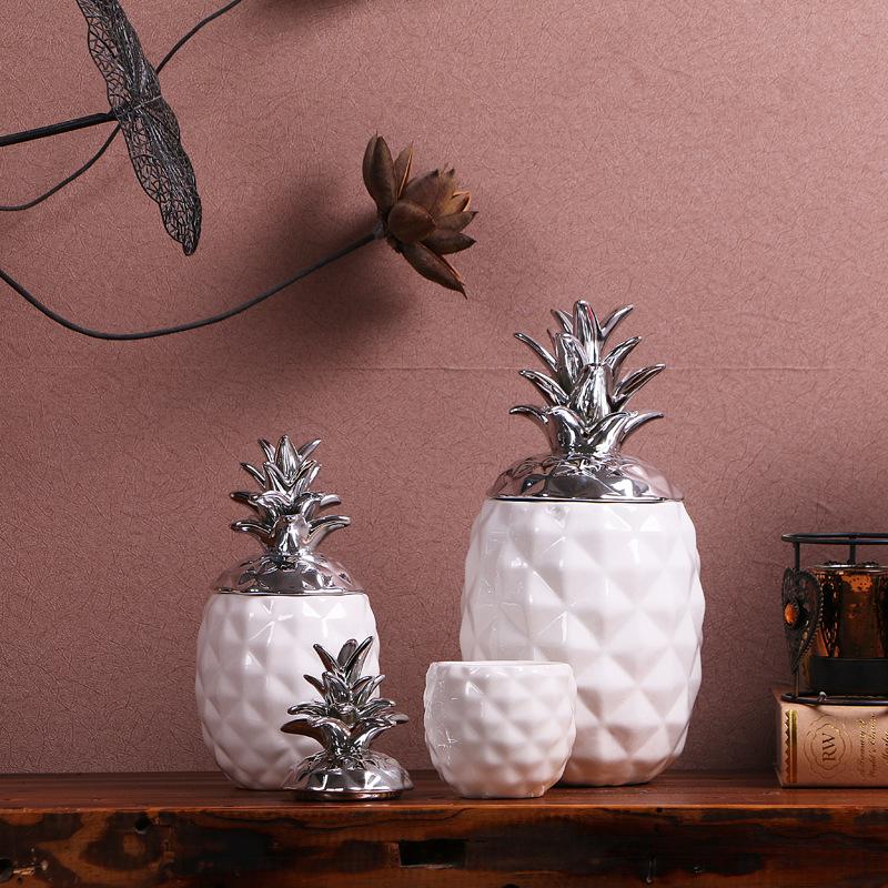 Ceramic spice jar, large ceramic jar,ceramic pineapple sugar jar