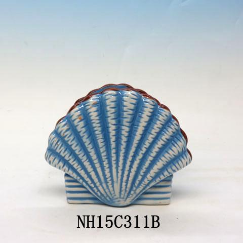 Tropical Nautical Starfish seashell Lunch Napkin Holder, Custom accept