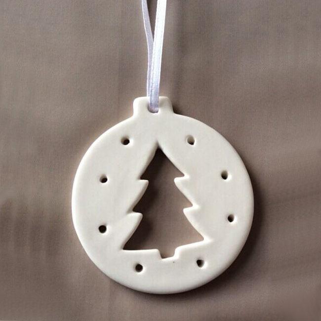 Custom made Hanging ornament Decoration For Christmas, Ceramic,  Christmas tree