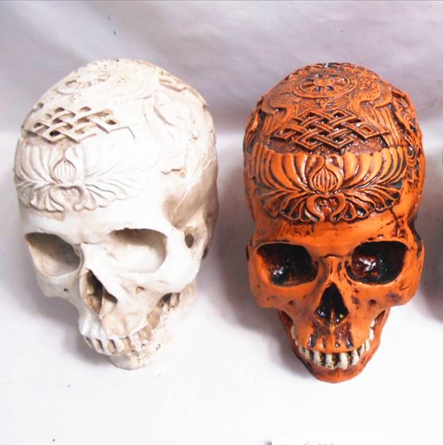 Customized Halloween  resin  skull head
