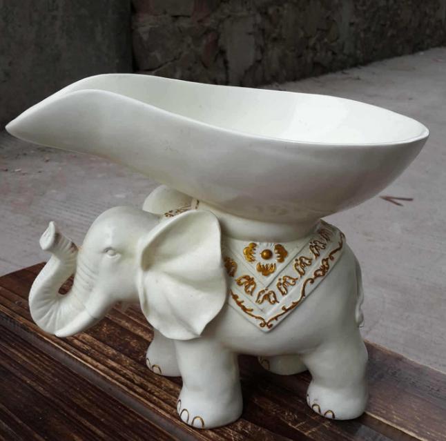 Resin elephant fruit plate exotic crafts elephant
