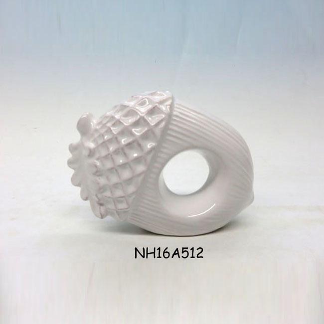 Ceramic Napkin Rings, Pine Cones Acorns, Custom accept