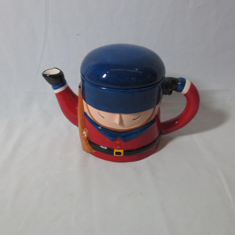 Ceramic army teapot,personalized teapot,custom coffee pot