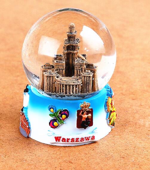 Customize warszawa  souvenirs gift snow globe