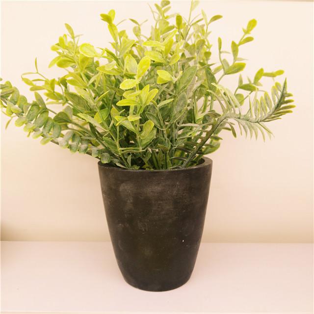 Matt Black  Ceramic  Ornamental Flower pot , Artificial plant in Ceramic pots Custom