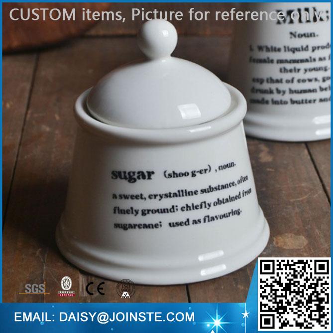 Ceramic mini sugar jar, tea coffee sugar jars, hermetic storage jars