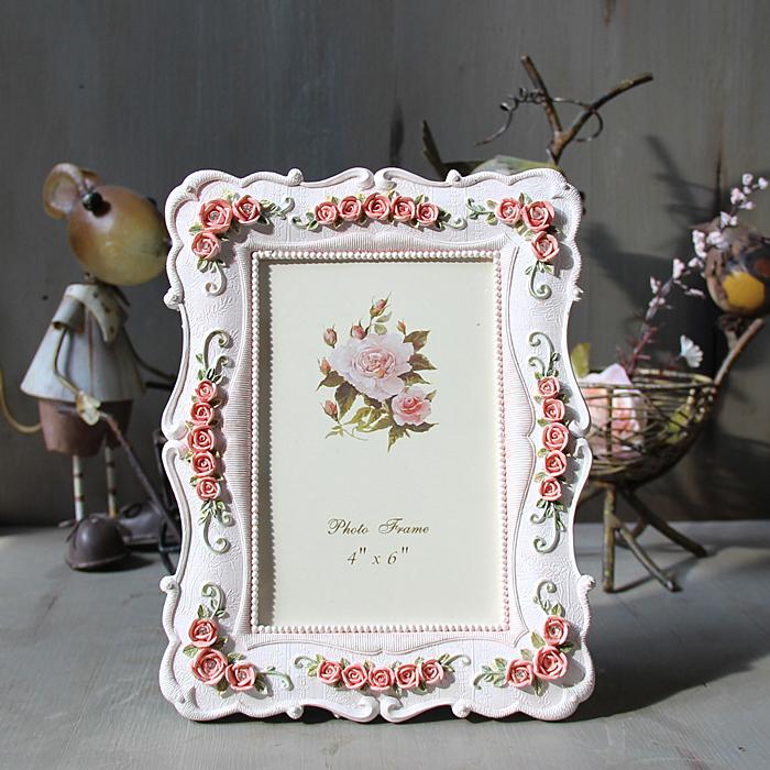 Fashion beautiful picture frame modern designs  white wedding resin rectangle  photo frame