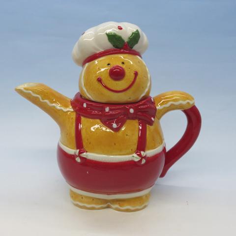 Christmas Ceramic Gingerbread man Teapot,  Custom accept