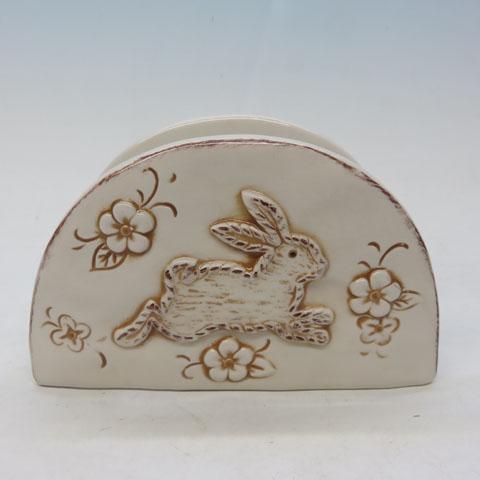 Napkin Holder Ceramic – Bunny Rabbit Design, Custom accept