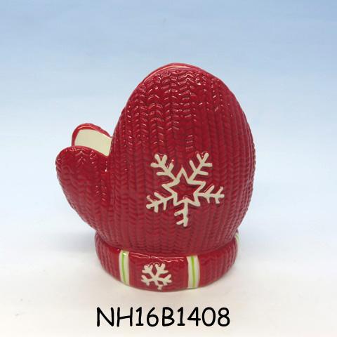 Ceramic Christmas Red Glove Napkin Holder, Custom accept