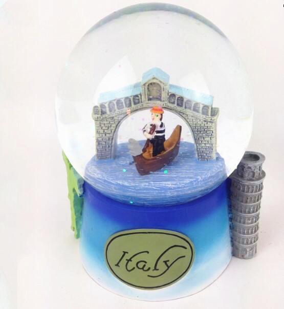 Customize  Italy Venice canal snow globes souvenir