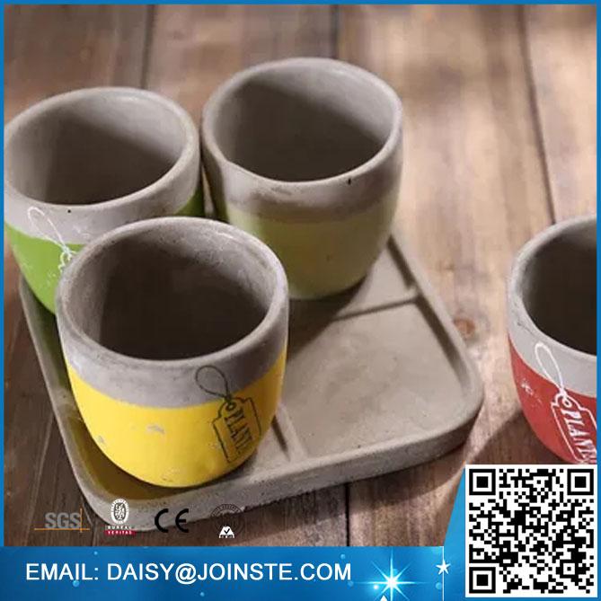Indoor square flower vase,Concrete Desktop Planter,mini clay flower pots