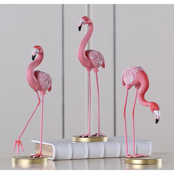 Customize polyresin pink flamingo statue decorative flamingo
