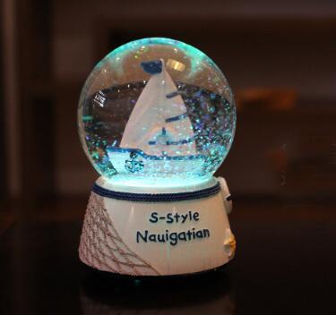 Mediterranean  water globe ,snow globes light house souvenirs gift