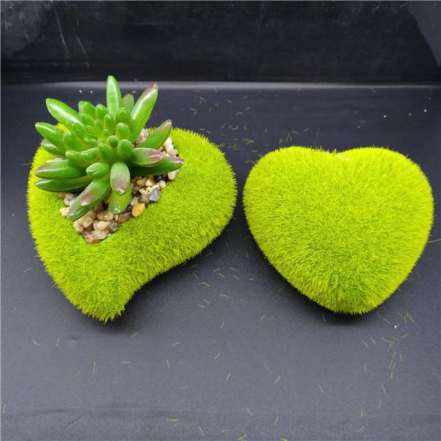 Pile Coating Ceramic Succulent Pot ,Heart Shape Garden ornamental pots