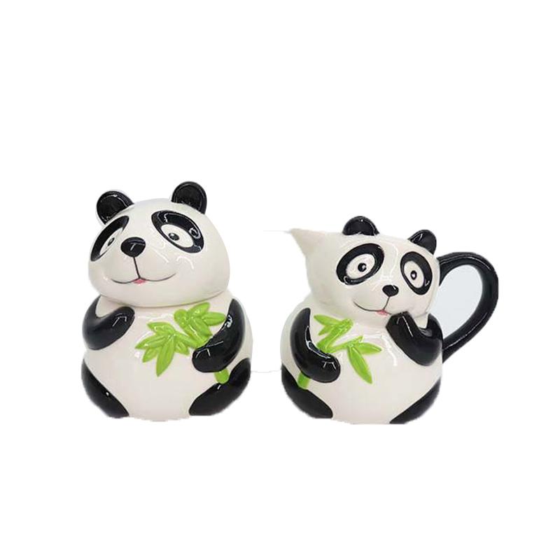 Panda Shaped tea coffee sugar jars,mug with sweet jar