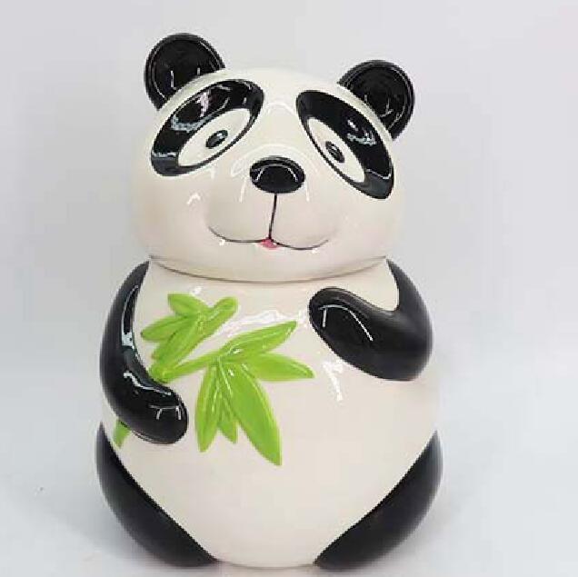 Chinese Panda Cookie Jar Ceramic Cute Kitchen Accessory Ceramic Panda Candy Jar,Panda cookie jars,Ceramic Panda containers