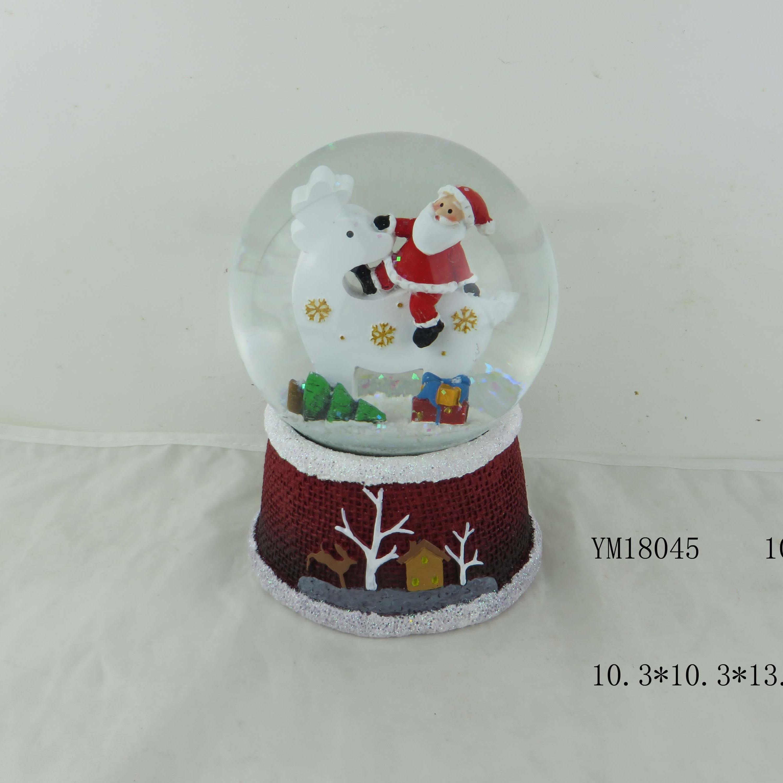 Traditional Christmas Snow Globe Glass Xmas Snowglobe Santa Snowman