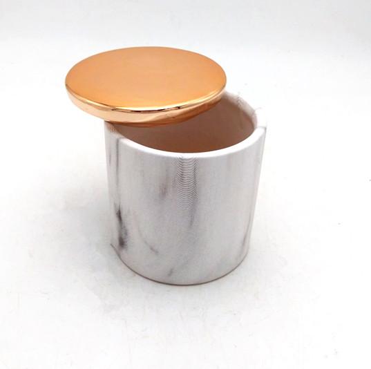 Ceramic marble candy jars ,marble print sugar jars