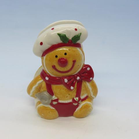 Gingerbread Man Napkin Holder, Ceramic