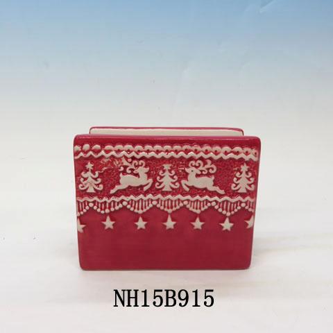 Home for the Holidays Reindeer Napkin Holder, Ceramic