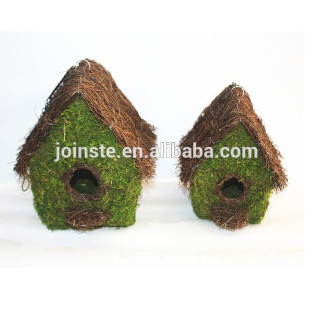 Square cute moss birdhouse moss bird feeders