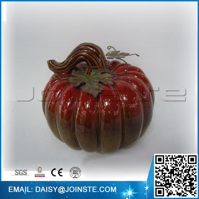 harvest decor mini ceramic pumpkin