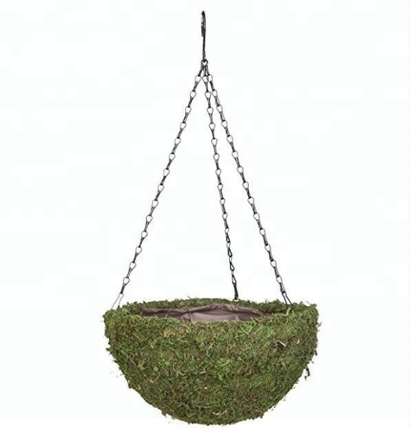14inch moss round hanging basket