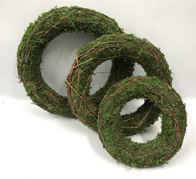 Natural green moss garland moss wreaths