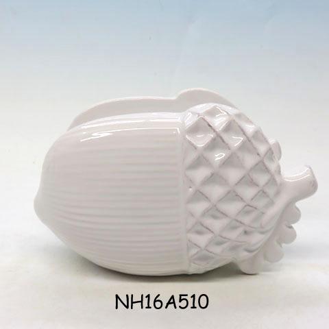 Ceramic Napkin Holder,Pine Cones Acorns