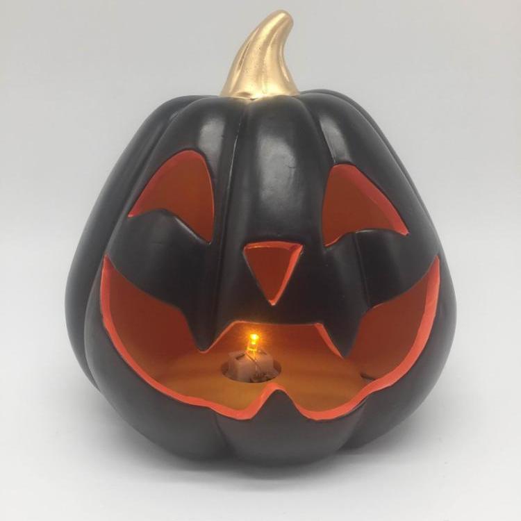 Personalized fancy shapes halloween party decoration wholesale ceramic pumpkin ornaments