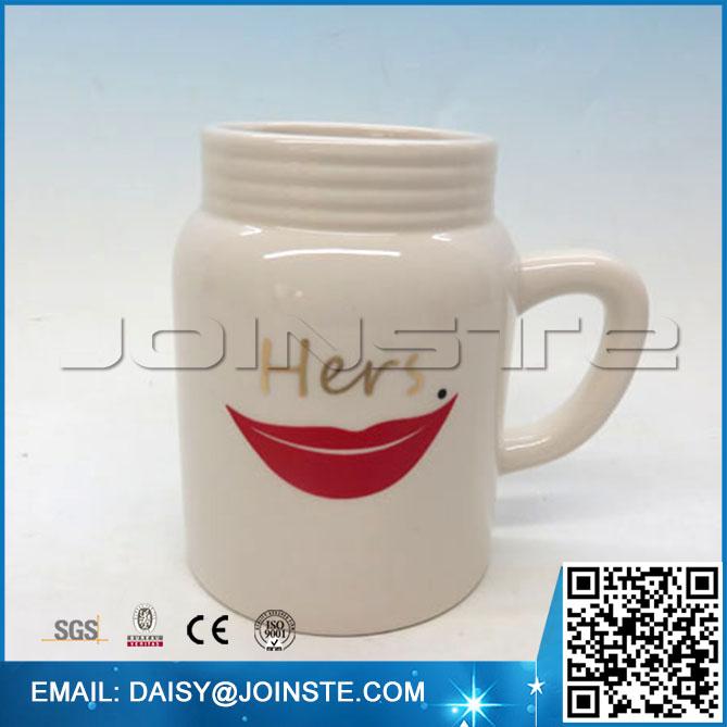 Mason Jar Mug for couples, valentine mason jar mug