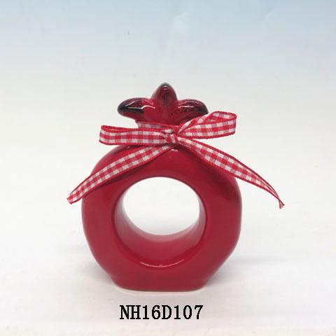 Ceramic Napkin Rings, Pomegranate, Custom accept