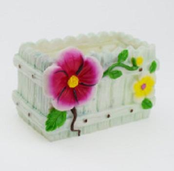 Custom cheap resin rectangle shape flower planter pot garden species