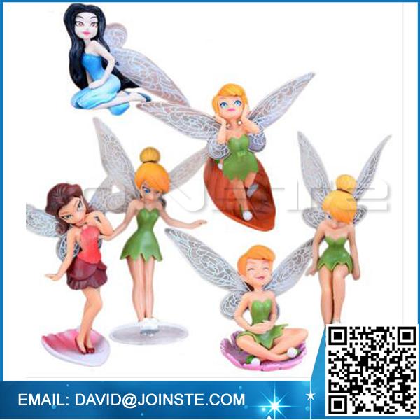 6 Piece Fairy Miniature Figurine Garden Ornament Plant Pot Dollhouse Decor